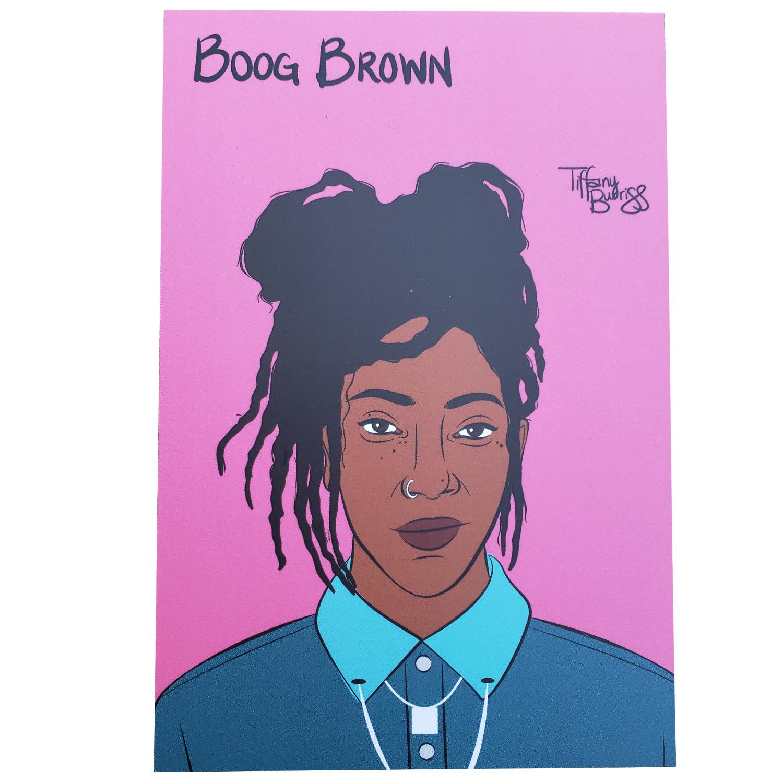 Boog Brown mini art print