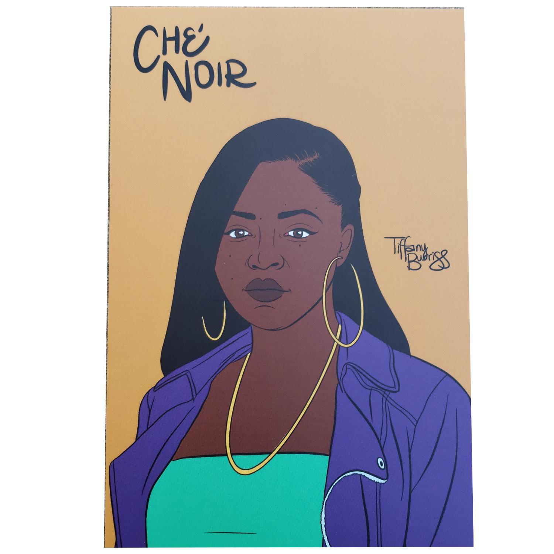 Che' Noir mini art print