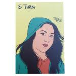 E-Turn mini art print
