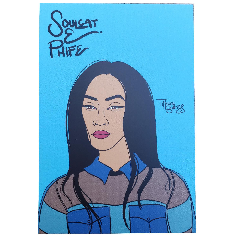 Soulcat E-Phife mini art print